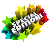 Special Edition Words Starburst Limited Collectors Version Issue Royalty Free Stock Images