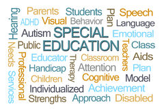 Special Education Word Cloud. On White Background Stock Image