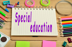 Special education words. On notebook Royalty Free Stock Photos