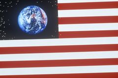 Special effects: American flag and the planet Earth Stock Photos
