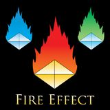 Fire effects. swirl trail effect with special light effect. Special effects  fire illustrations to facilitate templates or design elements Stock Image