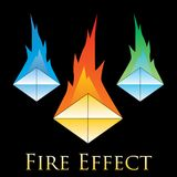 Fire effects. swirl trail effect with special light effect. Special effects  fire illustrations to facilitate templates or design elements Stock Photo