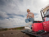 Special Effects Man Working Stock Image