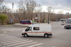 A special emergency rescue vehicle of the Ministry of Emergency Situations. Krasnoyarsk, Krasnoyarsk Region / RF - October 29, 2018: A special emergency rescue stock photo