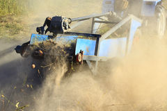 Special equipment on a tractor for digging the potato Stock Images