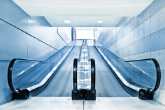 Special escalator in modern mall Royalty Free Stock Images