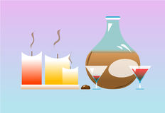 Special event. Illustration still life, special event royalty free illustration