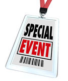 Special Event Badge Lanyard Conference Expo Convention Stock Images