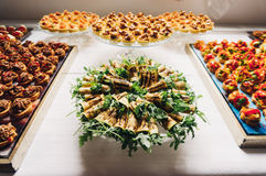 Special event with catering food. Catering food arranged for a celebration Royalty Free Stock Photo