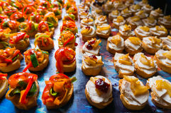 Special event with catering food. Catering food arranged for a celebration Stock Image