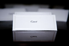 Special Event: Name Card Stock Photography