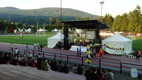 Special event with relay for life concert stock video