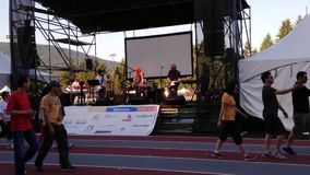 Special event with relay for life concert stock video footage