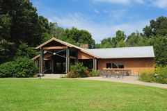 Special events pavilion at the Lichterman Nature Center in Memphis, Tennessee. Royalty Free Stock Images