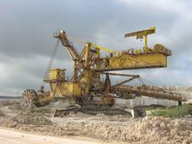Special excavator for a quarry. royalty free stock image