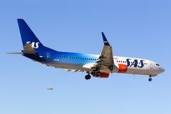 Special färgintrig SAS 737-800 Royaltyfria Bilder