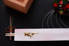 Special festive chopsticks, Japanese cutlery Royalty Free Stock Photos