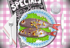 Special Fish Dinner Stock Photography
