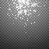 Special flare light effects for design and decor. Vector stars shine Royalty Free Stock Images