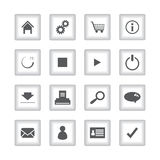 Special flat ui icons. For web and mobile applications Stock Images