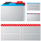 Special folders. Colored illustration of a folder containing documents Royalty Free Stock Image