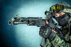 Special force soldier Royalty Free Stock Photography
