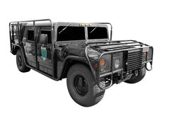 Special force vehicle. Special force 4x4 vehicle isolated Royalty Free Stock Photo