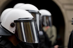 Special forces. Of police during demonstration Stock Photo