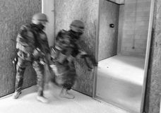 Special Forces. Tactical military exercises of Special Foreces Royalty Free Stock Photography