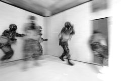 Special Forces. Tactical military exercises of Special Forces Stock Image