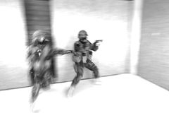 Special Forces. Tactical military exercises of Special Forces Stock Photo