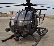 Special Forces AH-6 Little Bird Helicopter Stock Images