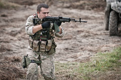 Special forces assault stock photography