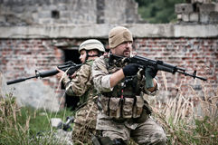 Special forces assault stock images