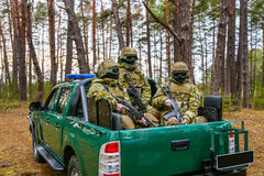Special Forces in the back of a pickup Royalty Free Stock Photography