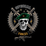 Special forces color emblem Stock Images