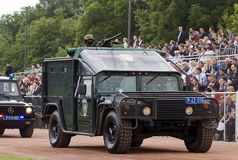 Special forces combat vehicle on parade Stock Image