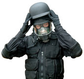 Special Forces equipment. Dressed in Special forces combat equipment Stock Images