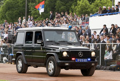 Special forces jeep on parade-1 Stock Photos