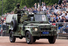 Special forces jeep on parade Royalty Free Stock Photo