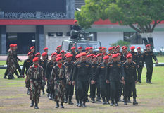 Special Forces (Kopassus) military from Indonesia Royalty Free Stock Photos