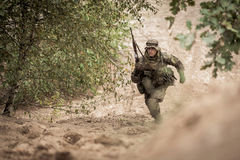 Special forces during the mission Stock Photography