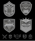 Special forces patch set Stock Images