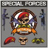 Special forces patch set - stock vector vector illustration