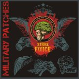 Special forces patch set - stock vector. Royalty Free Stock Image