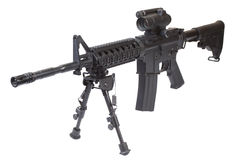 Special forces rifle M4 with bipod Stock Image