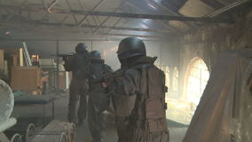 Special Forces running stock footage