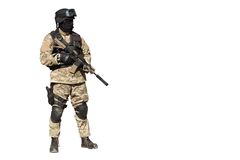 Special Forces soldier, isolated on white Stock Images