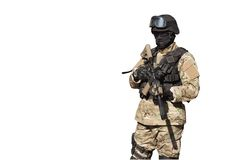 Special Forces soldier, isolated on white Stock Photography