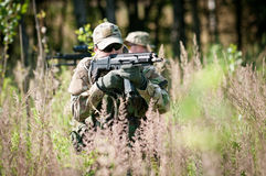 Special forces soldiers on patrol Stock Photo